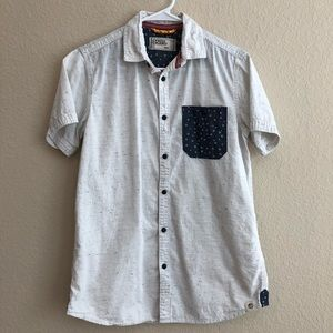 Free Planet Short Sleeve Button Down Shirt